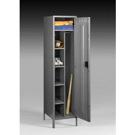 "Tennsco Combination Locker CMS-182172-1-MGY - w/Legs 18""x21""x72"" Welded, Med. Gray"
