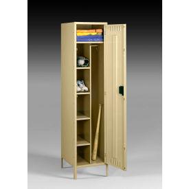 """Tennsco Combination Locker CMS-242172-1-SND - w/Legs 24""""x21""""x72"""" Welded, Sand"""