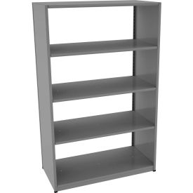 "Tennsco Capstone Boltless Shelving, Starter Unit, 48""W x 24""D x 76""H, 5 Shelves, Medium Grey"