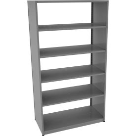 "Tennsco Capstone Boltless Shelving, Starter Unit, 48""W x 24""D x 88""H, 6 Shelves, Medium Grey"