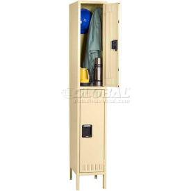 Tennsco Steel Locker DTK-121530-1-CPY - Double Tier w/Legs 1 Wide 12x15x30, Unassembled, Putty