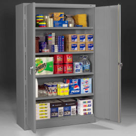 "Tennsco Jumbo Storage Cabinet J2478SU-MGY - Welded 48""W x 24""D x 78""H Medium Gray"