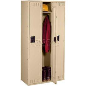 Tennsco Steel Locker STK-121560-C-MGY - Single Tier No Legs 3 Wide 12x15x60 Unassembled, Grey
