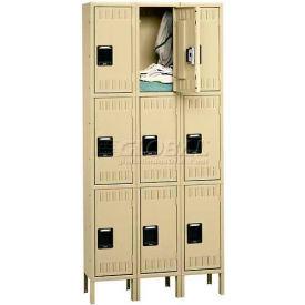 Tennsco Stee Locker TTS-121824-3 216 - Triple Tier w/Legs 3 Wide 12x18x24 Assembled, Putty