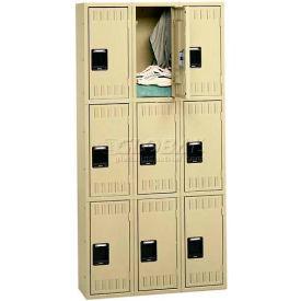 Tennsco Stee Locker TTS-121824-C 214 - Triple Tier No Legs 3 Wide 12x18x24 Assembled, Sand