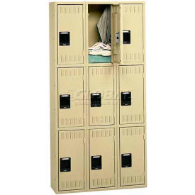Tennsco Stee Locker TTS-121824-C 216 - Triple Tier No Legs 3 Wide 12x18x24 Assembled, Putty