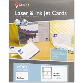 "Maco® UnRule Index Cards ML8576, 3"" x 5"", White, 150/Box"