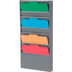 10 Pockets - Medical Chart Hanging Wall File Holder - Gray
