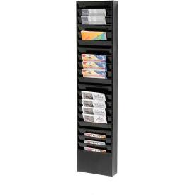 20 Pockets - Medical Chart Hanging Wall File Holder - Black