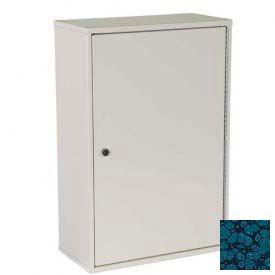 "Harloff Heavy Duty Narcotics Cabinet Single Door, Single Lock 16""W x 8""D x 24""H - Hammer Tone Blue"