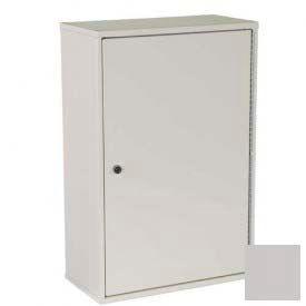 "Harloff Heavy Duty Narcotics Cabinet Single Door, Single Lock 16""W x 8""D x 24""H - Light Gray"