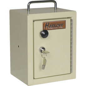 "Harloff Narcotics Box, Small, Single Door, Single Lock, 7""W x 7""D x 10""H - Beige"