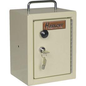 """Harloff Narcotics Box, Small, Single Door, Single Lock, 7""""W x 7""""D x 10""""H - Beige"""