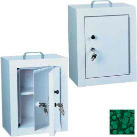 "Harloff Narcotics Box, Medium, Double Door, Double Lock 12""W x 9""D x 16""H - Hammer Tone Green"