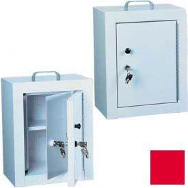 "Harloff Narcotics Box, Medium, Double Door, Double Lock 12""W x 9""D x 16""H - Red"