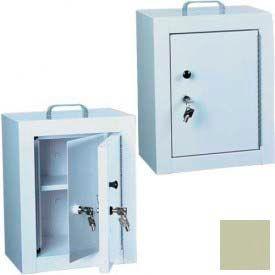 "Harloff Narcotics Box, Medium, Double Door, Double Lock 12""W x 9""D x 16""H - Sand"