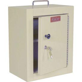 """Harloff Narcotics Box, Medium, Single Door, Single Lock, 12""""W x 9""""D x 16""""H - Beige"""