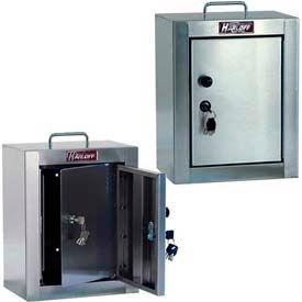 "Harloff Stainless Steel Narcotics Box, Medium, Double Door, Double Lock 12""W x 9""D x 16""H"