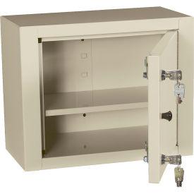 """Harloff Narcotics Cabinet, Medium, Single Door/Double Lock, 15""""W x 8""""D x 12""""H, Beige"""