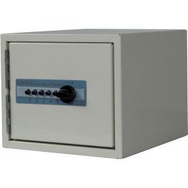 "Harloff Medicine Cabinet Mech. Electronic Combo Lock, Single Door 9""W x 10""D x 7-1/2""H, Light Gray"