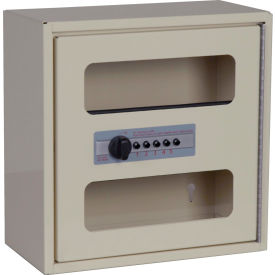 "Harloff See Thru Medicine Cabinet, Combo Lock, Single Door 12""W x 6""D x 12""H, Navy"