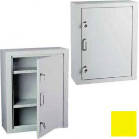 "Harloff Narcotics Cabinet, Large, Single Door, Double Lock 23-1/2""W x 10-1/2""D x 29-1/2""H - Yellow"