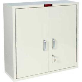 "Harloff Large Medicine Cabinet, Single Door/Single Lock, 30""W x 10""D x 30""H, Beige"