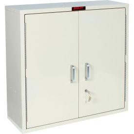"Harloff Medicine Cabinet, Large, Double Door, Single Lock 30""W x 10""D x 30""H, Hammertone Blue"