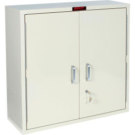 "Harloff Medicine Cabinet, Large, Double Door, Single Lock 30""W x 10""D x 30""H, Red"