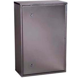 """Harloff Secure Stainless Narcotics Cabinet Single Door, Dual Lock, 16""""W x 8""""D x 24""""H"""