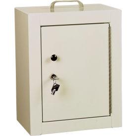 """Harloff Narcotics Cabinet, Medium, Double Door/Double Lock, 12""""W x 9""""D x 16""""H, Beige"""