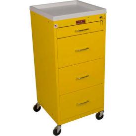Harloff Mini-Line Tall Four Drawer Isolation Cart, Hammertone Blue - 3154K