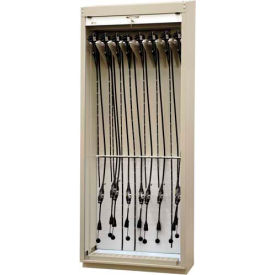 """Scope Storage Cabinet w/Drying Pkg., 36""""W x 18-3/4""""D x 93-1/4""""H, 16 Bronchoscopes, Sand"""