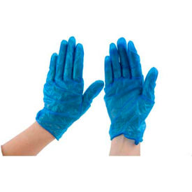 """Powdered 9"""" Vinyl Gloves, Blue, Extra-Large by"""