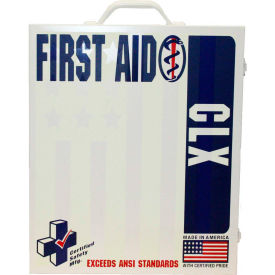 First Voice 100 Person ANSI Compliant Unitized First Aid Kit, Metal Case
