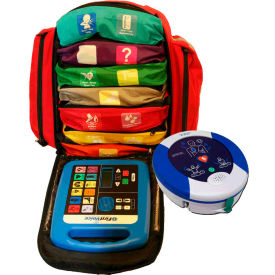 First Voice Backpack First Aid Responder Kit with AED