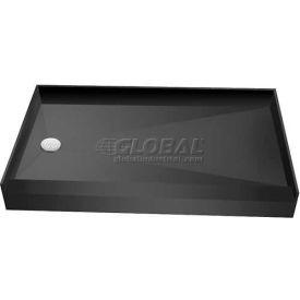 """Tile Redi, 3060LSPVC-13-2-4, 30"""" x 60"""", Rectangular Single Curb Shower Pan W/Left Drain"""