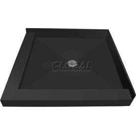 """Tile Redi, 3636CDL-PVC, 36"""" x 36"""", Square Double Curb Shower Pan W/Center Drain"""