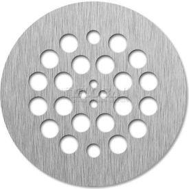 "Tile-Redi, DP-RD-BN, 4.25"" Dia., Round 14 Gauge Stainless Steel Drain Plate, Brushed Nickel Finish"