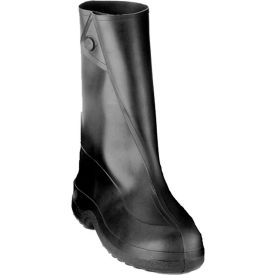 """Tingley 1400 Rubber 10"""" Work Overshoes, Black, Cleated Outsole, Large by"""