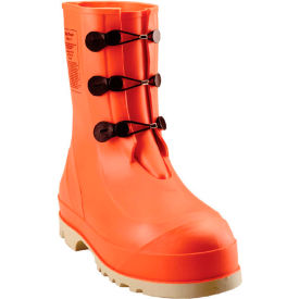 Tingley® 82330 HazProof® Steel Toe Boots, Orange/Cream, Sure Grip Outsole, Size 12
