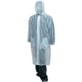 "Tingley® C61210 Tuff-Enuff™ Coat, Clear, 48"", Detachable Hood, XL"