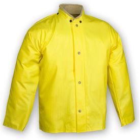 Tingley® J31207 Webdri® Storm Fly Front Jacket, Yellow, Hood Snaps, 3XL
