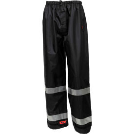 Tingley® Icon™ Waterproof Breathable Pants W/Silver Reflective Tape, Black, 3XL