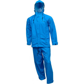Tingley® S66211 Storm-Champ® 2 Pc Suit, Royal Blue, Attached Hood, 3XL