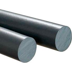 AIN Plastics PVC Plastic Rod Stock, 1 in. Dia. x 60 in. L, Grey