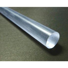 "AIN Plastics Polycarbonate Rod Stock 1-1/4"" Dia 24"" L, Black"