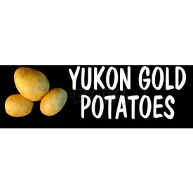 Yukon Gold Potatoes Grocery Signs (3-Track Photo Real Insert)