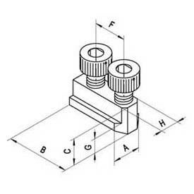 """T-nut for 12"""" Power Chuck, 3-780 or 3-781 series, Import"""
