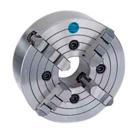 """4-Jaw (Solid) Independent Chuck, Semi-Steel, 10"""" , Import"""